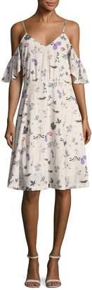 Ava & Aiden Women's Cold Shoulder Midi Dress