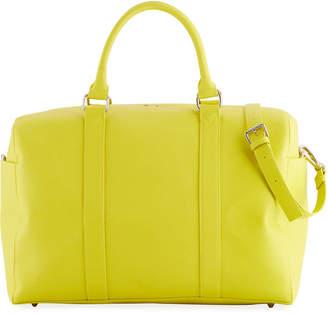 Neiman Marcus Faux-Saffiano Weekender Duffel Travel Bag