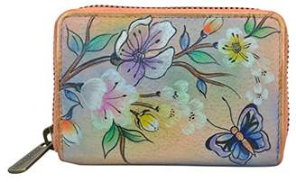 Anuschka Women's Handpainted Leather Credit and Business Card Holder-