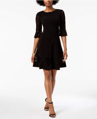 Jessica Howard Lace-Sleeve A-Line Dress, Regular & Petite