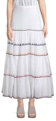 Carolina K. Iris Rainbow Maxi Skirt