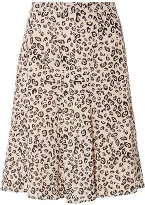 Altuzarra Caroline Leopard-print Silk Crepe De Chine Skirt - Ivory