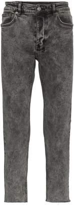 Ksubi grey acid wash slim jeans
