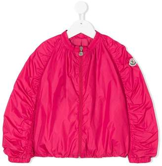 Moncler band collar bomber jacket