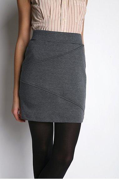 Silence & Noise Seamed Knit Pencil Skirt