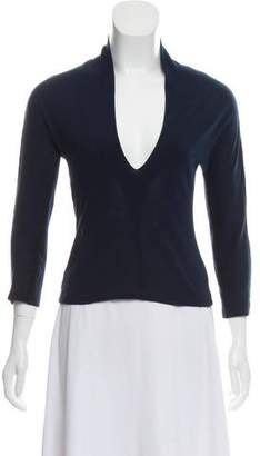 Alberta Ferretti Long Sleeve V-Neck Top
