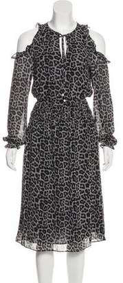 MICHAEL Michael Kors Printed Cold-Shoulder Dress