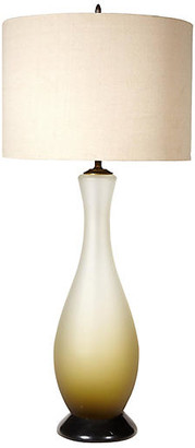 One Kings Lane Vintage 1960s Italian Frosted Glass Table Lamp - 2-b-Modern