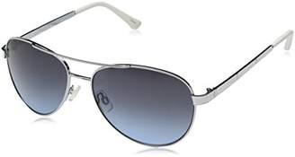 UNIONBAY Union Bay Women's U542 SLVWH Aviator Sunglasses