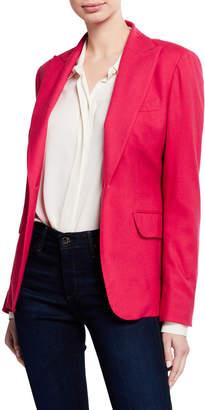 Kiton Cashmere Button-Front Blazer