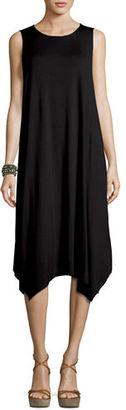 Eileen Fisher Sleeveless Jersey Handkerchief Dress $188 thestylecure.com