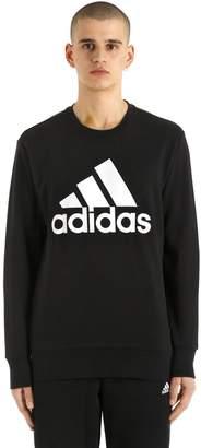 adidas Logo Printed Cotton Blend Sweatshirt