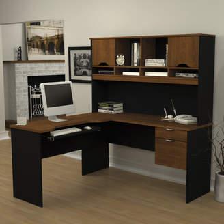 Bestar Innova L-Shape Executive Desk with Hutch