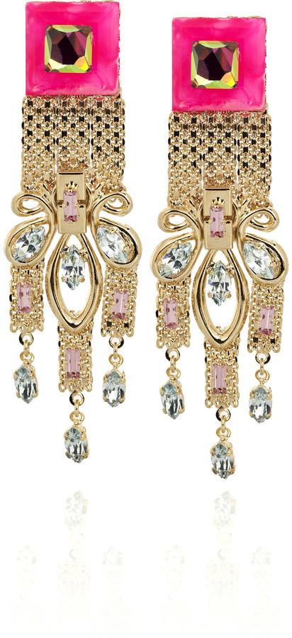 Erickson Beamon Disco Swarovski crystal clip-on earrings