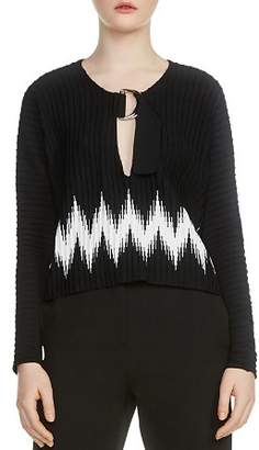 Maje Martha Zig Zag Sweater
