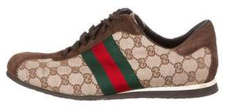 Gucci GG Web-Trimmed Sneakers