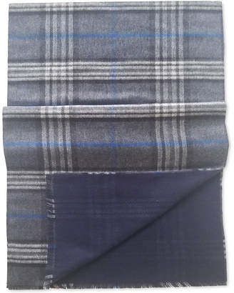 Fraas Men Plaid Reversible Scarf
