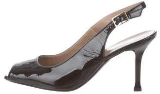 Bruno Magli Patent Leather Slingback Pumps