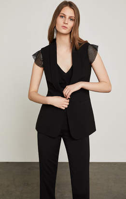 BCBGMAXAZRIA Cole Zipper-Back Vest