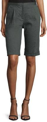Tahari City Slim-Fit Bermuda Shorts $198 thestylecure.com