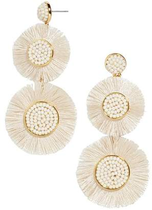 BaubleBar Mariette Round Fringed Drop Earrings
