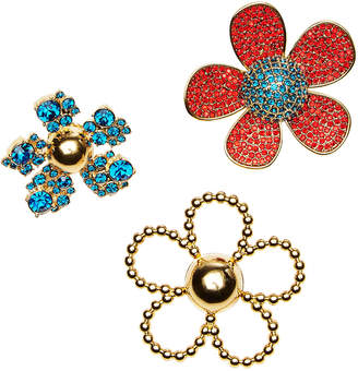 Marc Jacobs Embellished Daisy Brooch Set