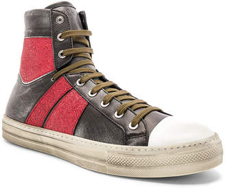 Amiri Glitter Stripe Sunset Vintage Sneaker in Black & Red | FWRD