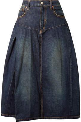 Junya Watanabe Denim Midi Skirt - Dark denim