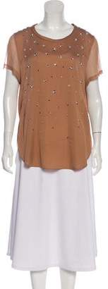 3.1 Phillip Lim Embellished Silk-Blend Top