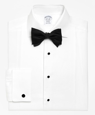 Brooks Brothers Regent Fit Bib-Front Spread Collar Tuxedo Shirt