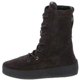 1558d9b2f Yeezy Suede Chelsea Boot Green Brown Hair Adidas Rising Star Purple ...