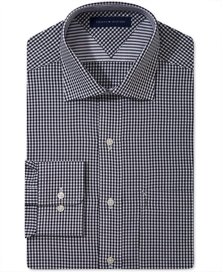 Tommy Hilfiger Dress Shirt, Regular Fit Gingham Shirt