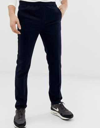 Burton Menswear slim fit elasticated waistband joggers in navy