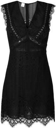 Pinko lace embroidered mini dress