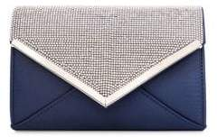Quiz Diamante Beaded Flap Convertible Clutch