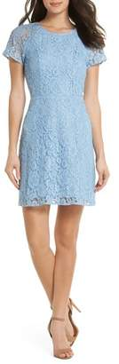 Charles Henry Raglan Sleeve Lace Dress