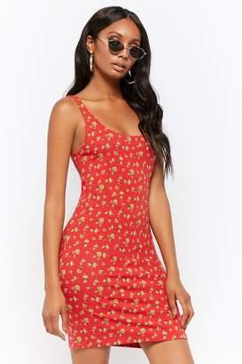 Forever 21 Floral Scoop Tank Dress