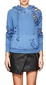 NSF Women's Lisse Distressed Cotton Hoodie - Blue