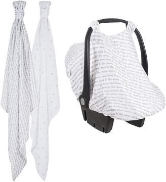Bebe Au Lait 2-Pack Muslin Swaddling Cloths & Car Seat Cover Set