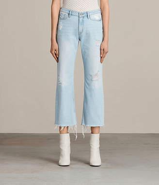 AllSaints Belle Destroys Flare Jeans