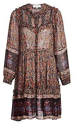 Sea Women's Nicolette Floral Peasant Dress - Size 0