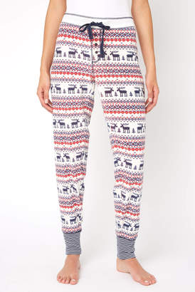 PJ Salvage Moose Fair Isle Fleece Jogger