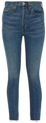Levi's Re/Done By Frayed High-Rise Slim-Leg Jeans