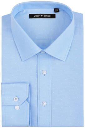VERNO Verno Mens Printed Polk-a-Dot Classic Fit Long Sleeve Dress Shirt - Big & Tall