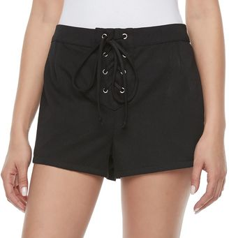 Disney Pirates of the Caribbean: Juniors Collection Lace-Up Shortie Shorts $36 thestylecure.com