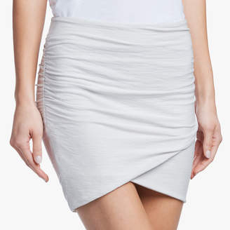 James Perse STRETCH JERSEY MINI WRAP SKIRT