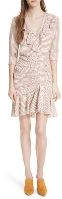 Veronica Beard Kai Asymmetrical Button Dress