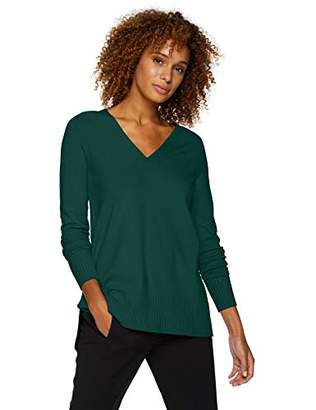 Lark & Ro Women's Long Sleeve Oversized Double V-Neck Sweater