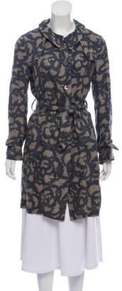 Hache Printed Linen Coat