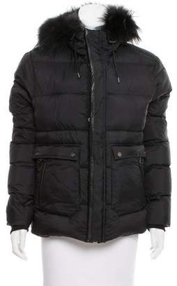 The Kooples Fur-Trimmed Puffer Coat